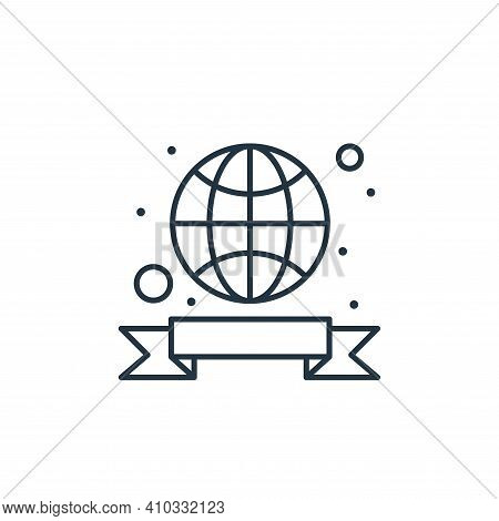 globe icon isolated on white background from earth day collection. globe icon thin line outline line