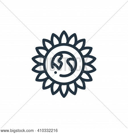 flower icon isolated on white background from world love collection. flower icon thin line outline l