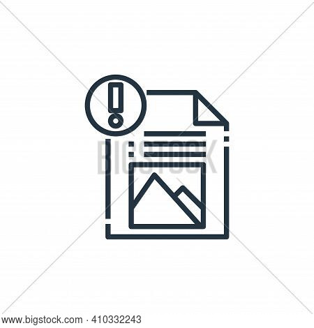 file icon isolated on white background from file type collection. file icon thin line outline linear