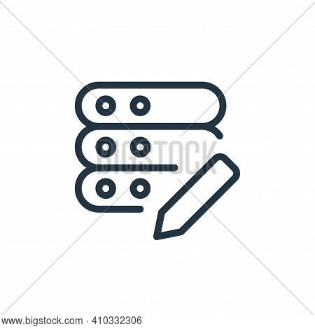 edit icon isolated on white background from work office server collection. edit icon thin line outli