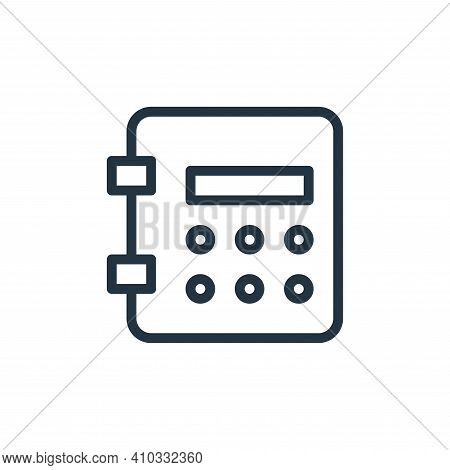 deposit icon isolated on white background from work office supply collection. deposit icon thin line