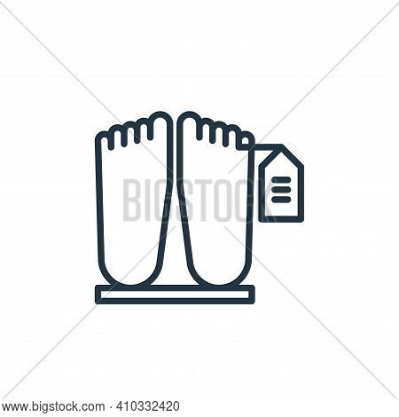 dead body icon isolated on white background from funeral collection. dead body icon thin line outlin