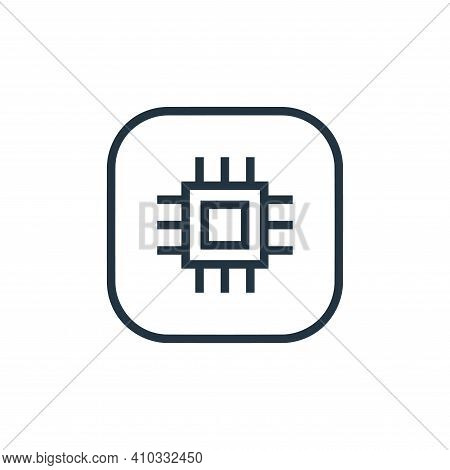cpu icon isolated on white background from hardware and gadgets collection. cpu icon thin line outli