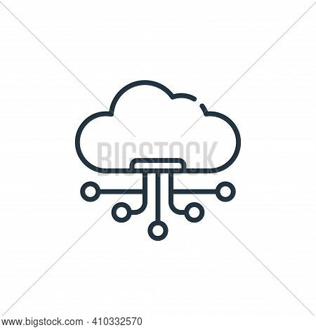 cloud icon isolated on white background from technology of the future collection. cloud icon thin li