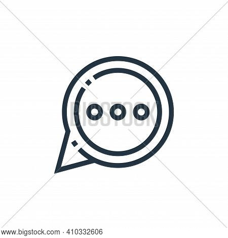 chat bubble icon isolated on white background from web essentials collection. chat bubble icon thin