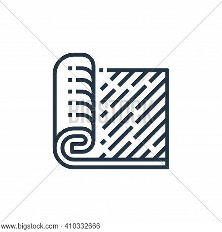 carpet icon isolated on white background from recycling collection. carpet icon thin line outline li