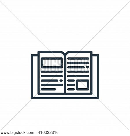 book icon isolated on white background from stay at home collection. book icon thin line outline lin