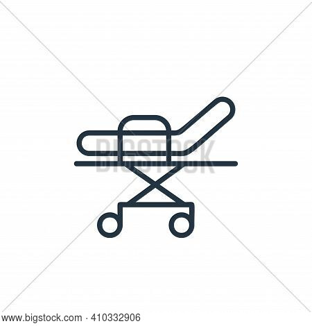 bed icon isolated on white background from covid collection. bed icon thin line outline linear bed s