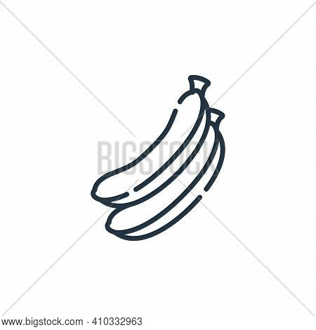 banana icon isolated on white background from vegan food collection. banana icon thin line outline l