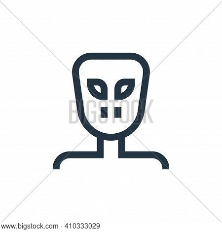 alien icon isolated on white background from fantastic characters collection. alien icon thin line o
