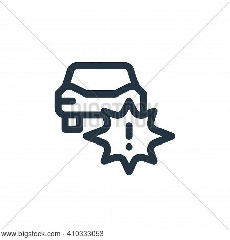 accident icon isolated on white background from auto racing collection. accident icon thin line outl