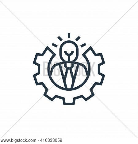 ability icon isolated on white background from business risks collection. ability icon thin line out