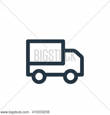 van icon isolated on white background from landscaping equipment collection. van icon thin line outl