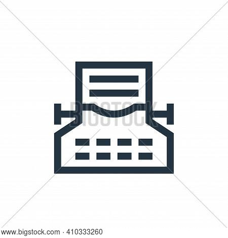typing icon isolated on white background from news collection. typing icon thin line outline linear