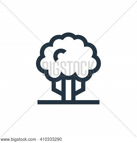 tree icon isolated on white background from hippies collection. tree icon thin line outline linear t