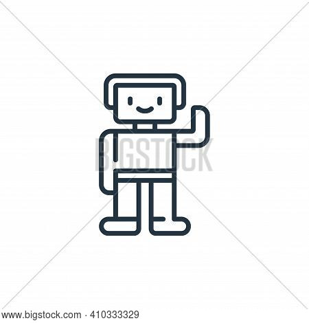 toy icon isolated on white background from children toys collection. toy icon thin line outline line
