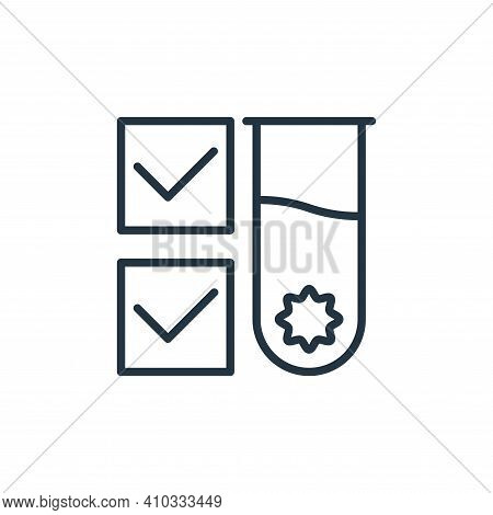 test tube icon isolated on white background from stop virus collection. test tube icon thin line out