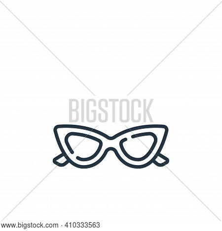 sunglasses icon isolated on white background from fame collection. sunglasses icon thin line outline
