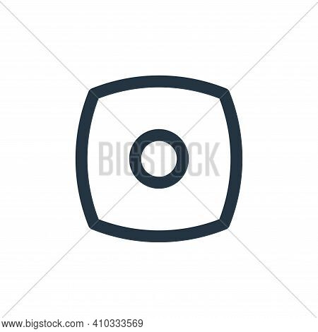 stop icon isolated on white background from basic ui collection. stop icon thin line outline linear