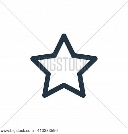 star icon isolated on white background from marketing business collection. star icon thin line outli