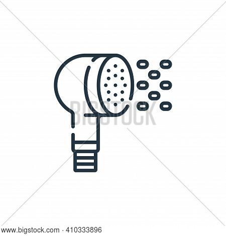 shower head icon isolated on white background from hairdressing and barber shop collection. shower h