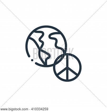 peace icon isolated on white background from world love collection. peace icon thin line outline lin