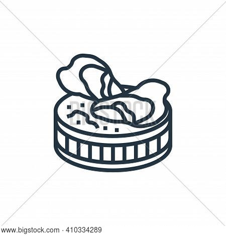 oyster icon isolated on white background from seafood collection. oyster icon thin line outline line