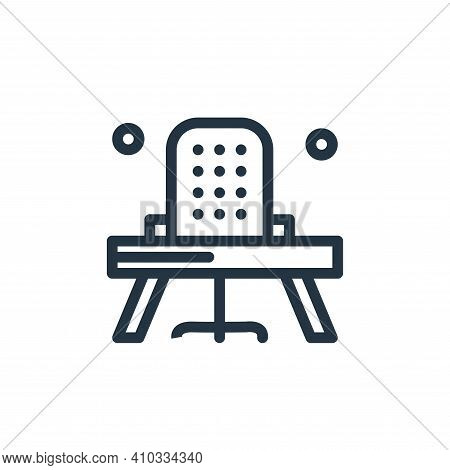 office chair icon isolated on white background from business collection. office chair icon thin line