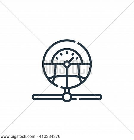 network icon isolated on white background from database and servers collection. network icon thin li