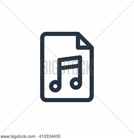 music icon isolated on white background from document and files collection. music icon thin line out