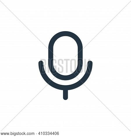 music icon isolated on white background from user interface collection. music icon thin line outline