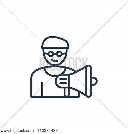 movie director icon isolated on white background from cinema collection. movie director icon thin li