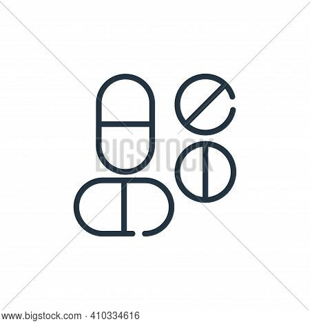 medicine icon isolated on white background from symptoms virus collection. medicine icon thin line o