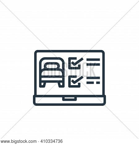 laptop icon isolated on white background from hotel collection. laptop icon thin line outline linear