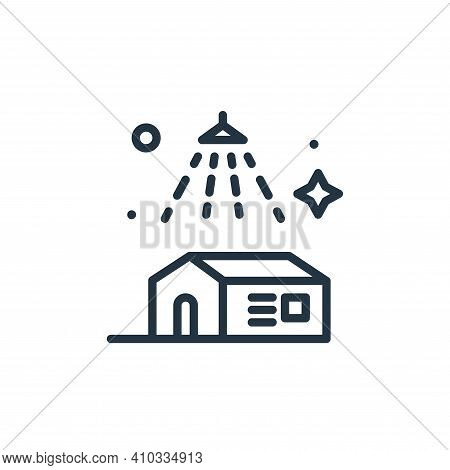 house icon isolated on white background from mass disinfection collection. house icon thin line outl