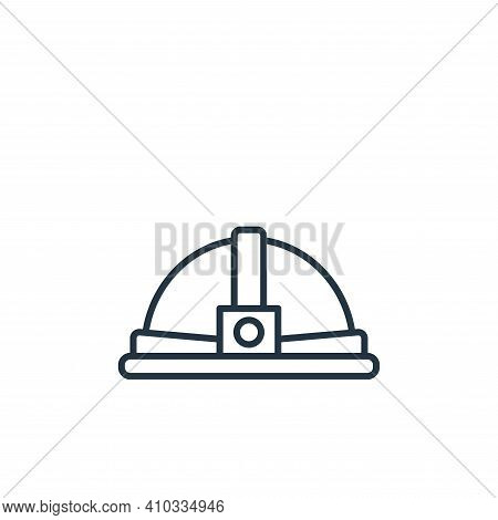 helmet icon isolated on white background from carpentry collection. helmet icon thin line outline li