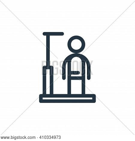 height icon isolated on white background from medical tools collection. height icon thin line outlin