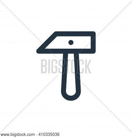 hammer icon isolated on white background from labour day collection. hammer icon thin line outline l