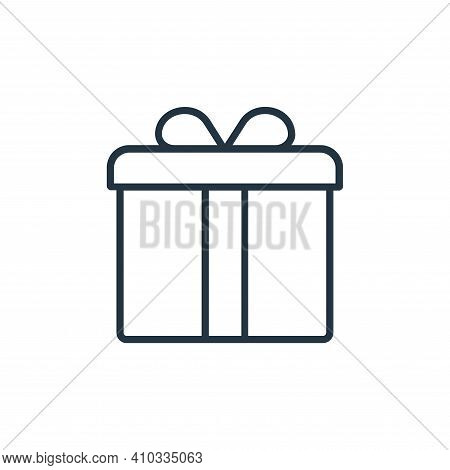 gift icon isolated on white background from shopping line icons collection. gift icon thin line outl