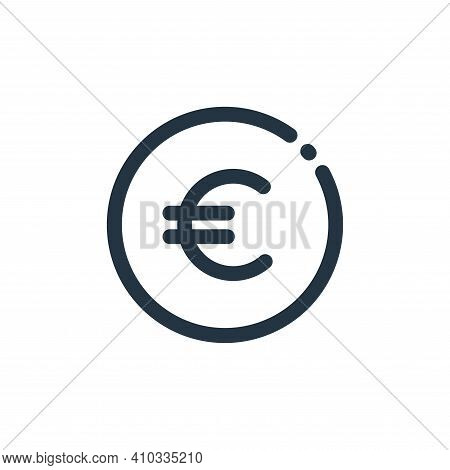 euro sign icon isolated on white background from currency collection. euro sign icon thin line outli