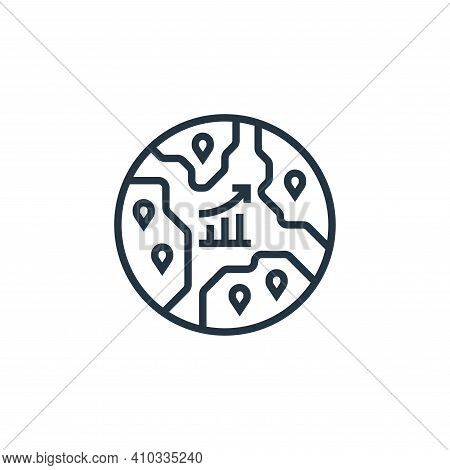 emerging markets icon isolated on white background from economic crisis collection. emerging markets