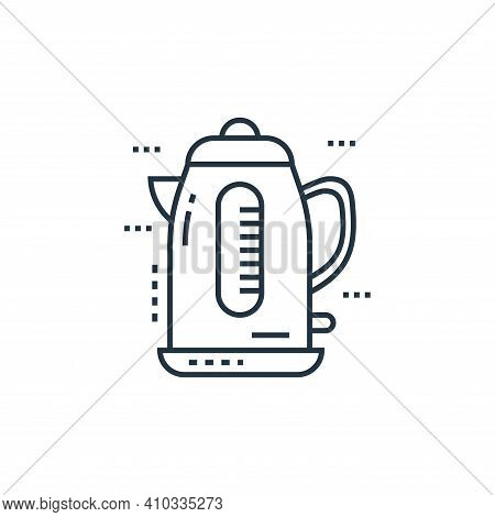 electric kettle icon isolated on white background from technology devices collection. electric kettl