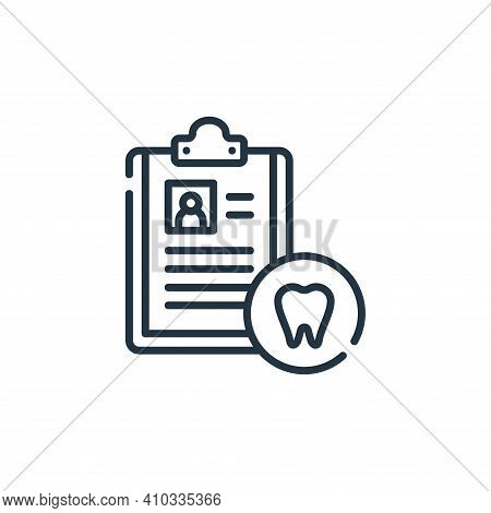 dental icon isolated on white background from dental care collection. dental icon thin line outline