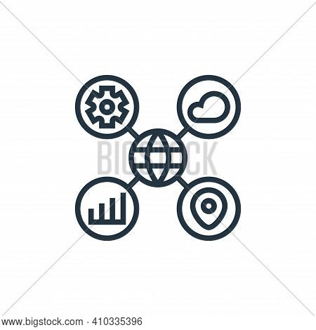 data classification icon isolated on white background from digital transformation collection. data c