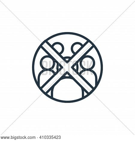 crowd icon isolated on white background from covid collection. crowd icon thin line outline linear c