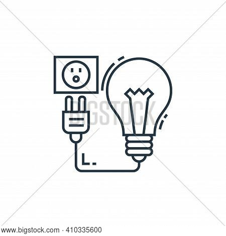 charging icon isolated on white background from environment and eco collection. charging icon thin l