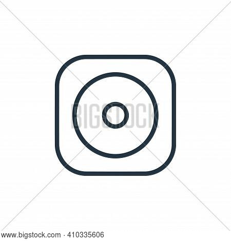 cds icon isolated on white background from hardware and gadgets collection. cds icon thin line outli