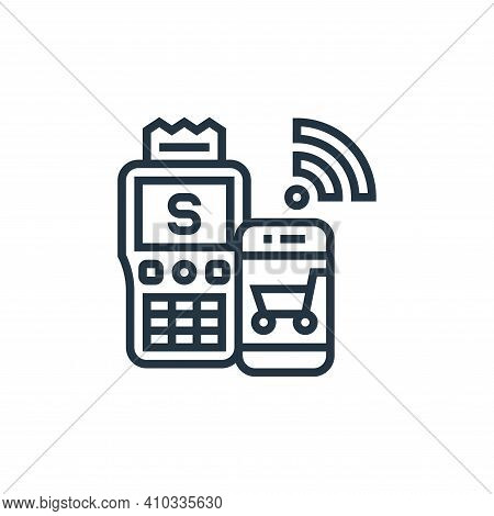 cashless payment icon isolated on white background from payment element collection. cashless payment