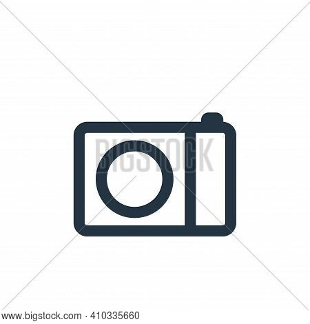 camera icon isolated on white background from electronic and device collection. camera icon thin lin