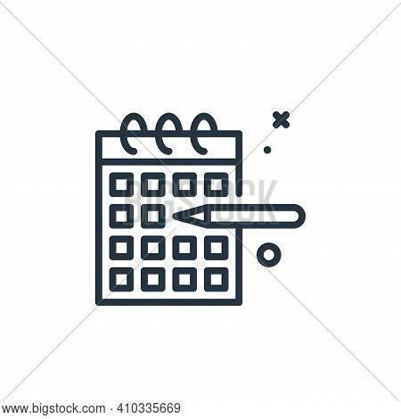 calendar icon isolated on white background from work from home collection. calendar icon thin line o